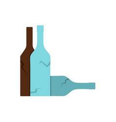 Bottles icon flat style vector