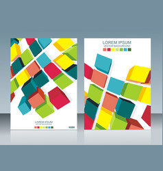 brochure template design with cubes elements eps vector image