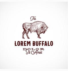 buffalo abstract sign symbol or logo vector image
