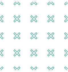 Cancel icon pattern seamless white background vector
