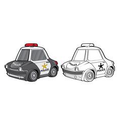 car police cartoon toy transport emergency vector image