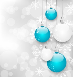 Christmas card with colorful balls and copy space vector image