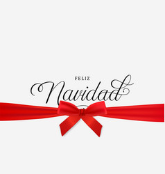 Christmas gift navidad greeting card in spanish vector