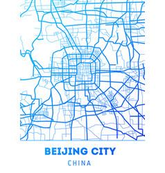 City map of beijing city vector