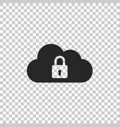cloud computing lock icon isolated vector image