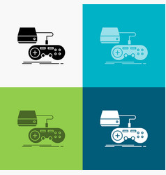 Console game gaming playstation play icon over vector