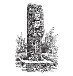 Copan monolith vintage engraving vector