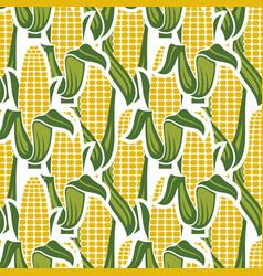 Corn seamless pattern vector