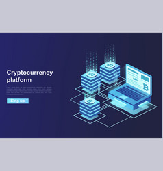 Cryptocurrency and blockchain platform creation vector