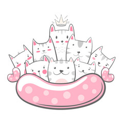 cute funny - cat kitty characters vector image