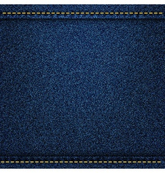 Denim jeans texture with strings and seams vector image