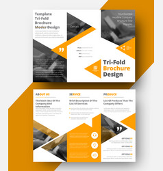 Design a white tri-fold brochure vector