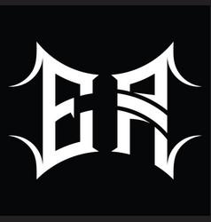 Ea logo monogram with abstract shape design vector