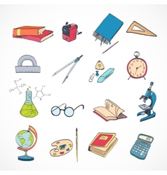 Education icon doodle color vector