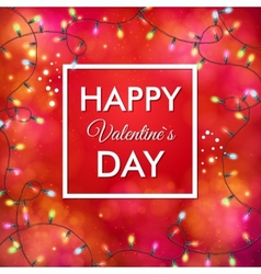 Festive red Valentines Day card design vector image vector image