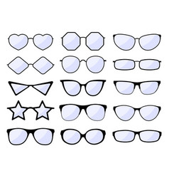 Glasses silhouette stylish frame eyeglasses vector