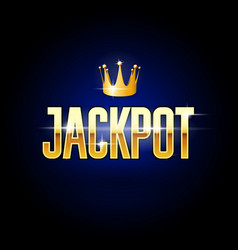 Golden title jackpot and crown - casino vector