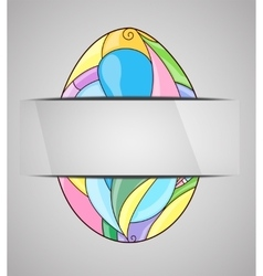 Greeting card with colorful easter egg vector image