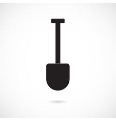 Grey Shovel Icon vector image