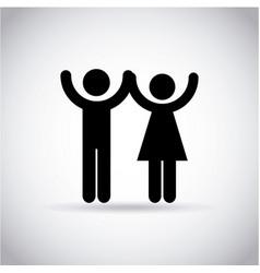 happy couple icon vector image