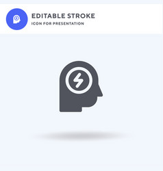 headache icon filled flat sign solid vector image