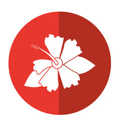 Hibiscus flower exotic shadow vector