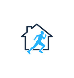 Home run logo icon design vector