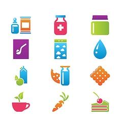 Icon set gastronomy vector