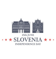 Independence Day Slovenia vector