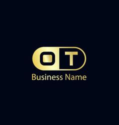 initial letter ot logo template design vector image