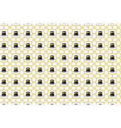 Islamic background with arabic pattern kaaba vector