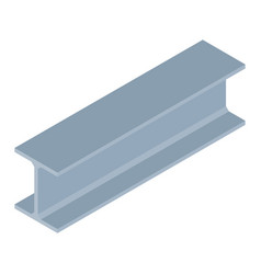 Isometric steel beam vector