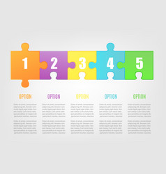 jigsaw puzzle banner template with colorful option vector image