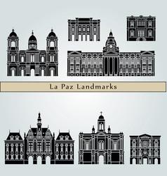 la paz landmarks vector image