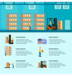 Logistic Warehouse Infographics vector