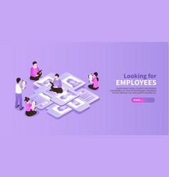 Looking for employees background vector