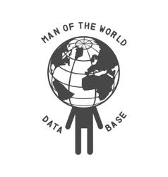 man world vector image
