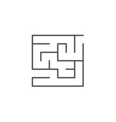 Maze or labyrinth line outline icon vector