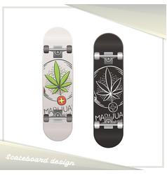 medical marijuana skateboard nine vector image vector image