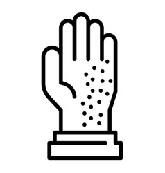 Mite on glove icon outline style vector