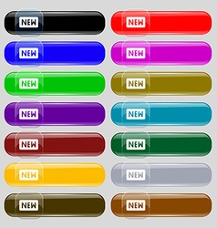 New icon sign Set from fourteen multi-colored vector image