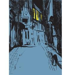 Night Street vector