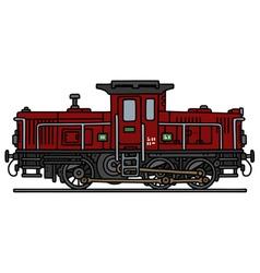 Old diesel locomotive vector