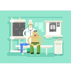 Patient and doctor character vector image