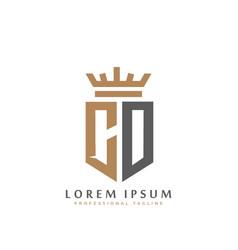 premium co monogram two letters co elegant vector image
