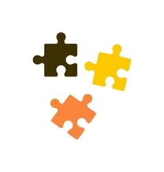 Puzzle icon in flat style vector image