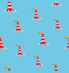 Red sea buoy seamless pattern vector