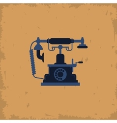 retro telephone on vintage background vector image