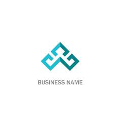 shape line triangle abstract company logo vector image
