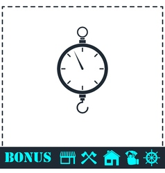 Spring scale icon flat vector image